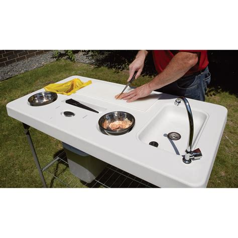 cabela s fish cleaning table deluxe fish cleaning c table with faucet and