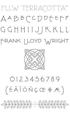 frank lloyd wright font free p22 type foundry fllw exhibition set this font set is the