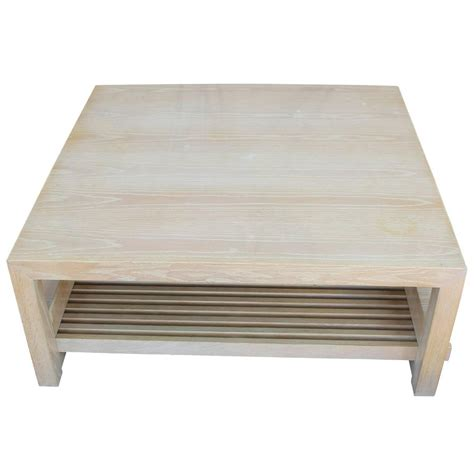 White And Oak Coffee Table Ceruesed White Oak Coffee Table By Spectre For Sale At 1stdibs
