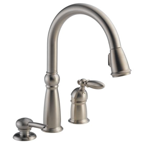 delta kitchen faucet models 16955 sssd dst single handle pull kitchen faucet