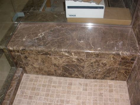 installing granite shower bench pictures of work completed surface floorig and