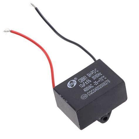 capacitor de motor ventilador cbb61 ventilador de teto capacitor do motor 12 uf 400 v 2 fios jpg