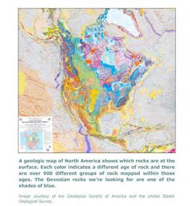 geological map of america tiktaalik roseae the search for tiktaalik