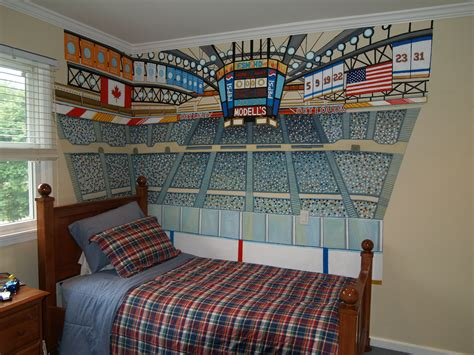 sports murals for bedrooms bonnie siracusa murals fine art