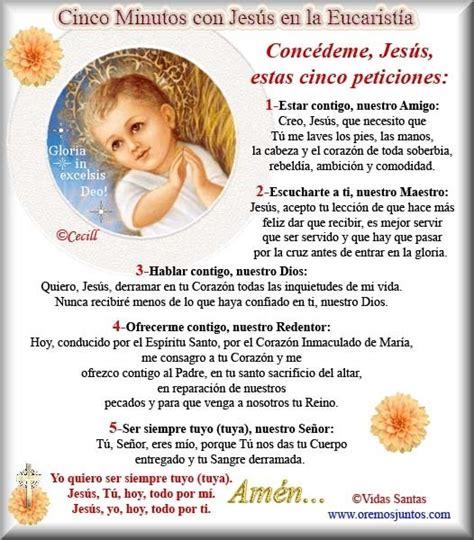 oracion para ministros de eucaristia rinc 243 n de la oraci 243 n esta oraci 243 n cinco minutos con