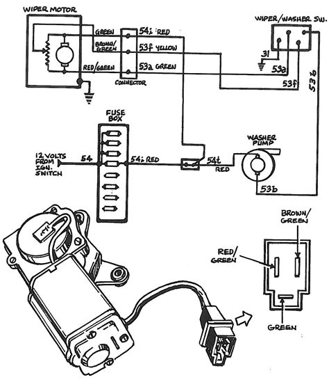 chevy wiper motor wiring wiring diagrams schematics
