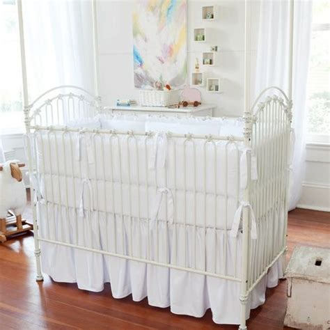 White Crib Bed Skirt Solid White Crib Skirt Gathered Themed Rooms Four Poster Beds And Crib Skirts