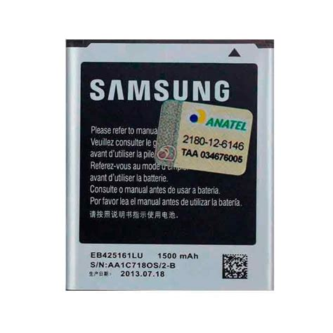 Baterai Original Samsung G Fame bateria samsung galaxy j1 mini sm j105m ds eb425161