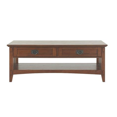 home decorators collection artisan medium oak coffee table