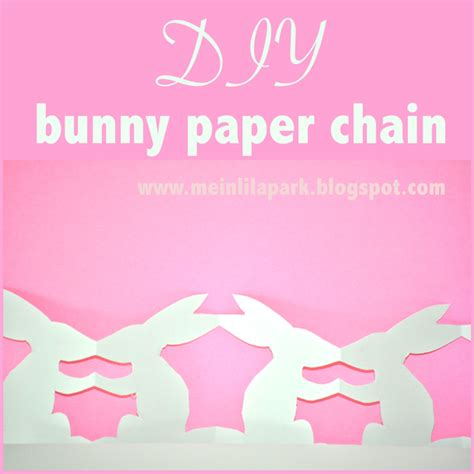 paper chains template free printable templates for diy bunny paper chains