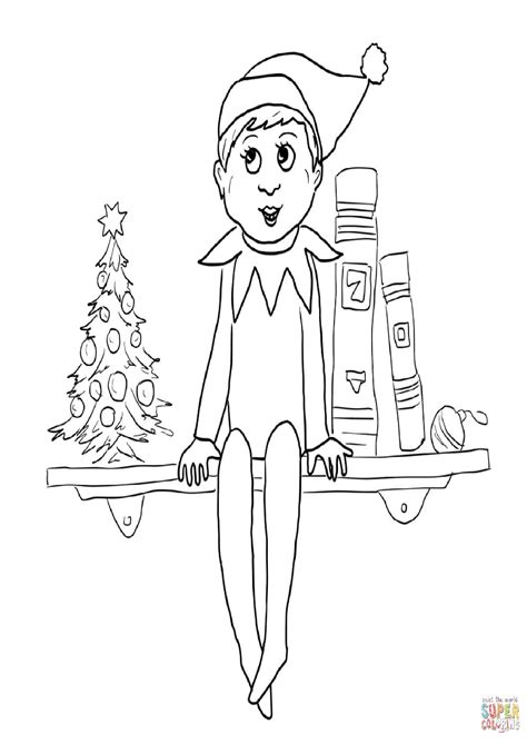 elf size coloring page elf on the shelf coloring pages coloring page pictures