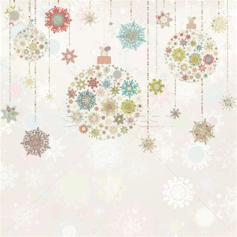 christmas wallpaper portrait beige background with christmas balls eps 8 vector