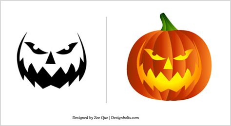 scary pumpkin faces templates free pumpkin carving patterns 2012 15 scary