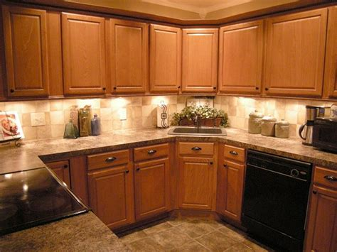 Kitchen Backsplash Ideas With Oak Cabinets | kitchen backsplash oak cabinets best home decoration