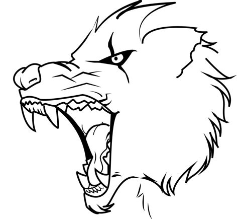 angry wolf coloring page angry wolf by therayhem on deviantart