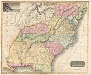 southern united states map southern provinces of the united states geographicus