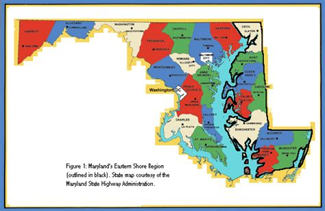 map maryland eastern shore towns v