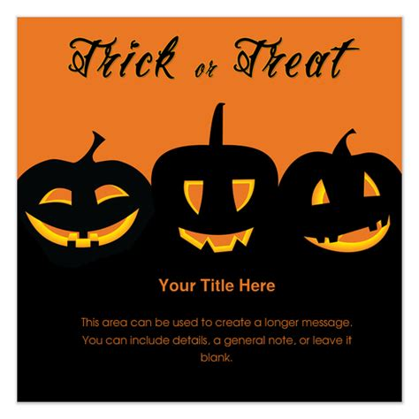trick or treat invitations amp cards on pingg com