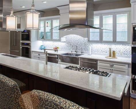 lyra silestone quartz kitchen countertops white cabinets