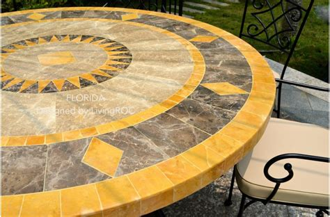 Mosaic Patio Table Top 49 Quot Outdoor Patio Garden Table Mosaic Marble Florida