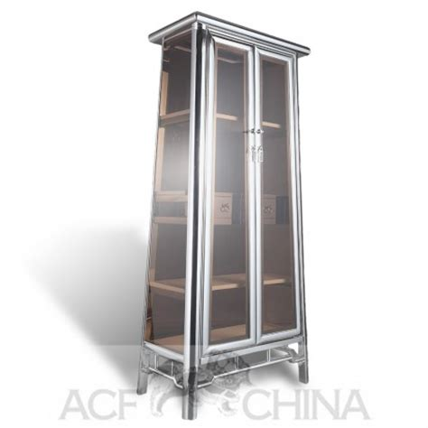 Steel And Glass Cabinet by Stainless Steel And Glass Cabinet In Chrome