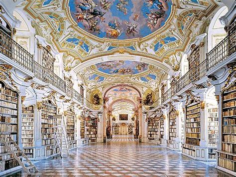 beautiful baroque architecture inside rottenbuch abbey benedictine monastery library admont austria admont