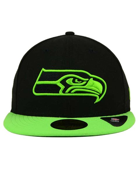 seahawks color ktz seattle seahawks colors 59fifty cap in green for
