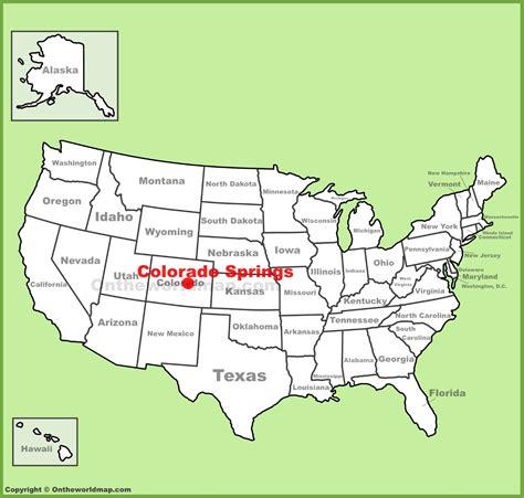 map usa springs colorado springs location on the u s map