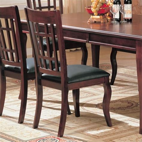 Maxy Ori Cherry Store New coaster newhouse dining chair with faux leather seat in
