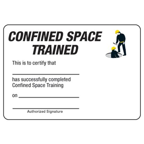 confined space card template certification photo wallet cards confined space trained