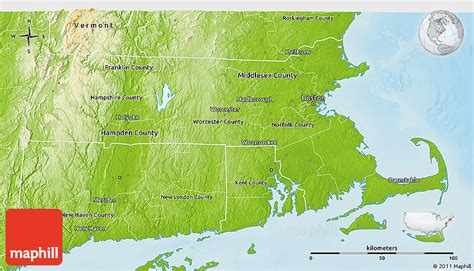 massachusetts physical map physical 3d map of massachusetts