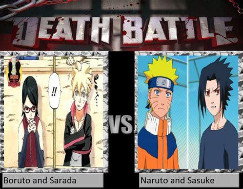 boruto vs sarada boruto and sarada vs naruto and sasuke by keyblademagicdan