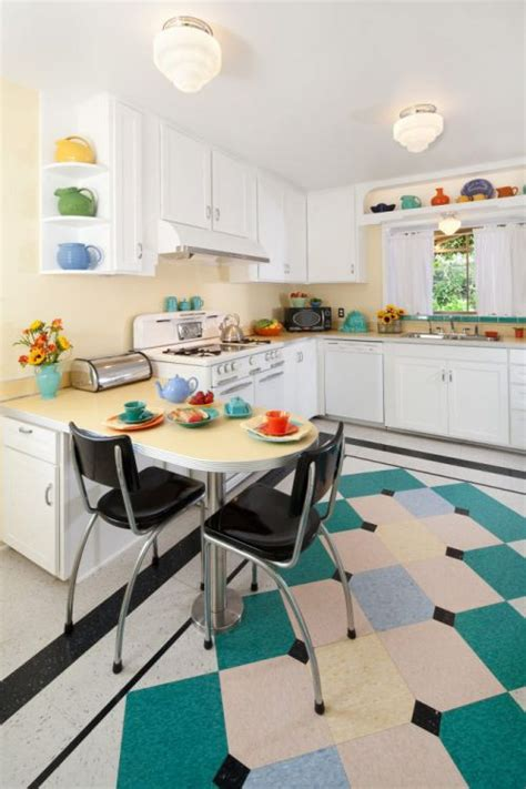 retro kitchen flooring margie grace s perfect little 1940s style kitchen
