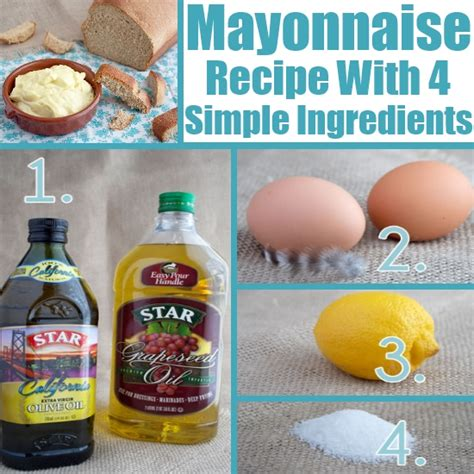 how to make mayonnaise with 4 simple ingredients