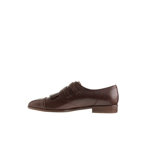 Brogue Pointed Oxfords s oxfords brogues brown fringed pointed toe vintage