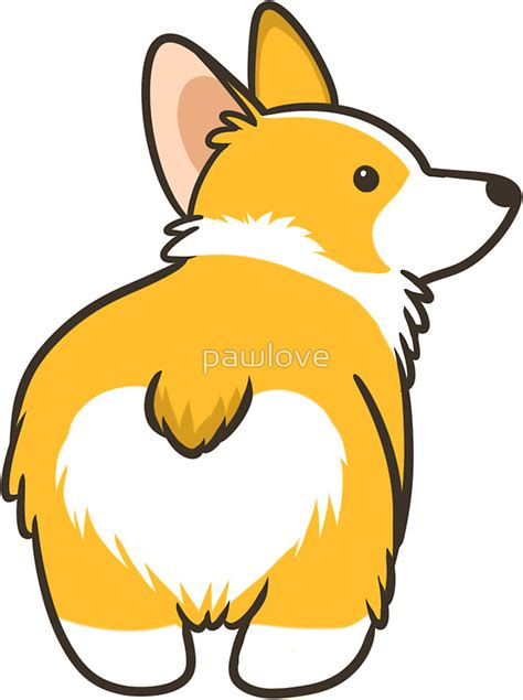 Easy Removable Wallpaper by Quot Corgi Heart Quot Stickers By Pawlove Redbubble
