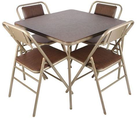 samsonite folding chairs and table samsonite 70s folding table chairs set of 5 shopstyle