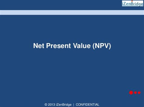Net Present Value Mba Math by Izenbridge S Pmp 174 Math Series Project Selection Pv