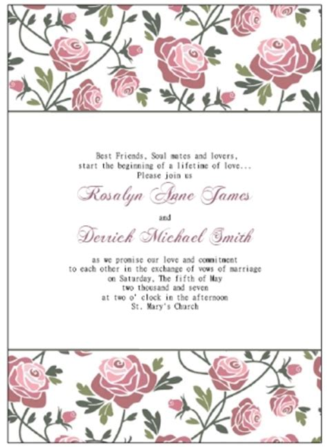 free invitation template free printable wedding invitations templates