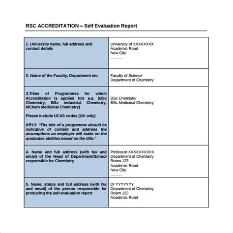 evaluation report template self evaluation 9 free documents in pdf