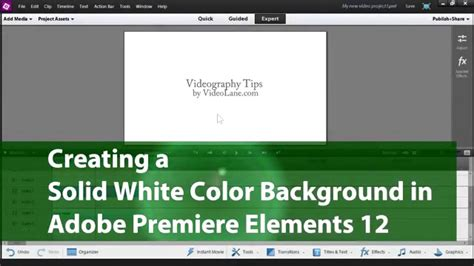 adobe premiere pro background color creating a solid white color background adobe premiere