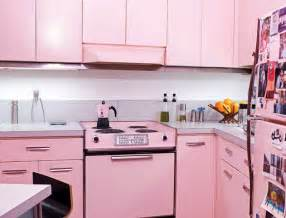 retro kitchen decor ideas cool pink kitchen design with retro and chic look digsdigs