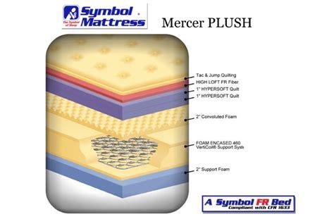 plush bed mercer plush mattress by symbol bedding