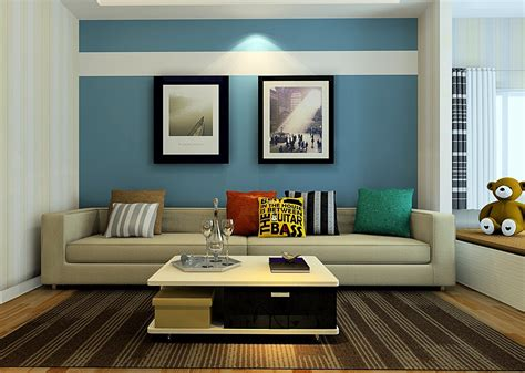 blue living room walls modern house