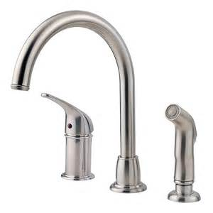 Kitchen Faucets Single Handle With Sprayer by Pfister Prive Single Handle Pull Out Sprayer Kitchen