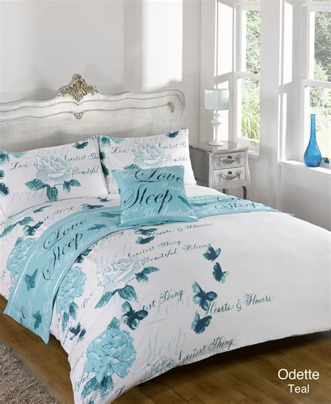 single bed coverlet duvet quilt bedding bed in a bag teal single double king