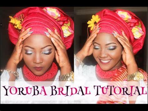 how to tie nigerian wrapper igbo wrapper yoruba style yoruba bride makeup gele tying tulip wrap tutorial