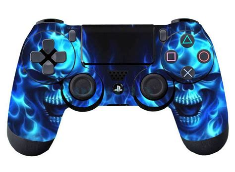Ps4 Contoller Aufkleber by Details About Blue Skull Skin For Ps4 Controller