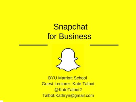Byu Mba Class Size by Snapchat For Business Mba Lecture