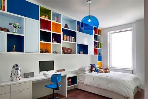 shelves for boys bedroom 30 trendy ways to add color to the contemporary kids bedroom